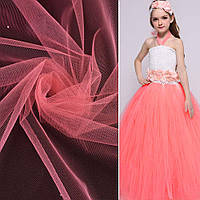 Фатин (американская сетка) розовый персиковый