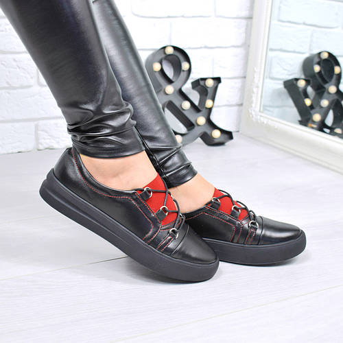 1486a8737 Кроссовки женские под Ecco черные КОЖА 4352, спортивная обувь: продажа,  цена в Днепре. кроссовки, кеды повседневные от