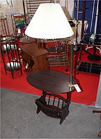 Стол с лампой W-12 (аналог SR-0059), кофейный столик с газетницей и лампой