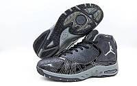 Обувь для баскетбола мужская Jordan OB-935-5(41) (р-р 41) (PU, черный-черный, подошва серый)