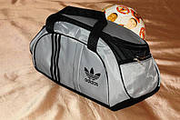 Спортивная сумка Adidas модель M-530.(серый+черный)
