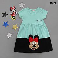Летнее платье Minnie Mouse для девочки.  3-4;  4-5;  5-6;  6-7 лет, фото 1