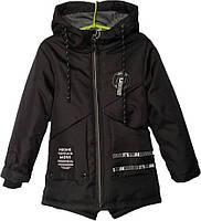 """Куртка детская демисезонная """"Noone"""" #NK-014 для мальчиков. 6-7-8-9-10 лет. Черная. Оптом., фото 1"""