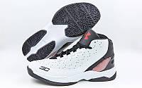 Обувь для баскетбола мужская Under Armour F1705-1(42) (р-р 42) (PU, белый-черный)