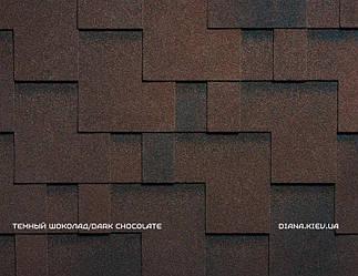 Битумная черепица RUFLEX RUNA - Темный шоколад, Dark Chocolate