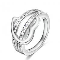 Кольцо женское сердечко