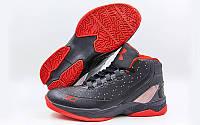 Обувь для баскетбола мужская Under Armour F1705-4(42) (р-р 42) (PU, черный-красный)