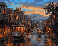 Картина раскраска по номерам на холсте 40*50см Babylon VP487 Последний трамвай