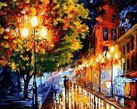 Картина раскраска по номерам на холсте 40*50см Babylon VP526 Прогулка вечерними улочка