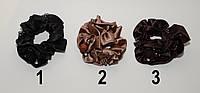 Модная резинка для волос из атласа с бусинками цвета в ассортименте DBV 56 /6-0