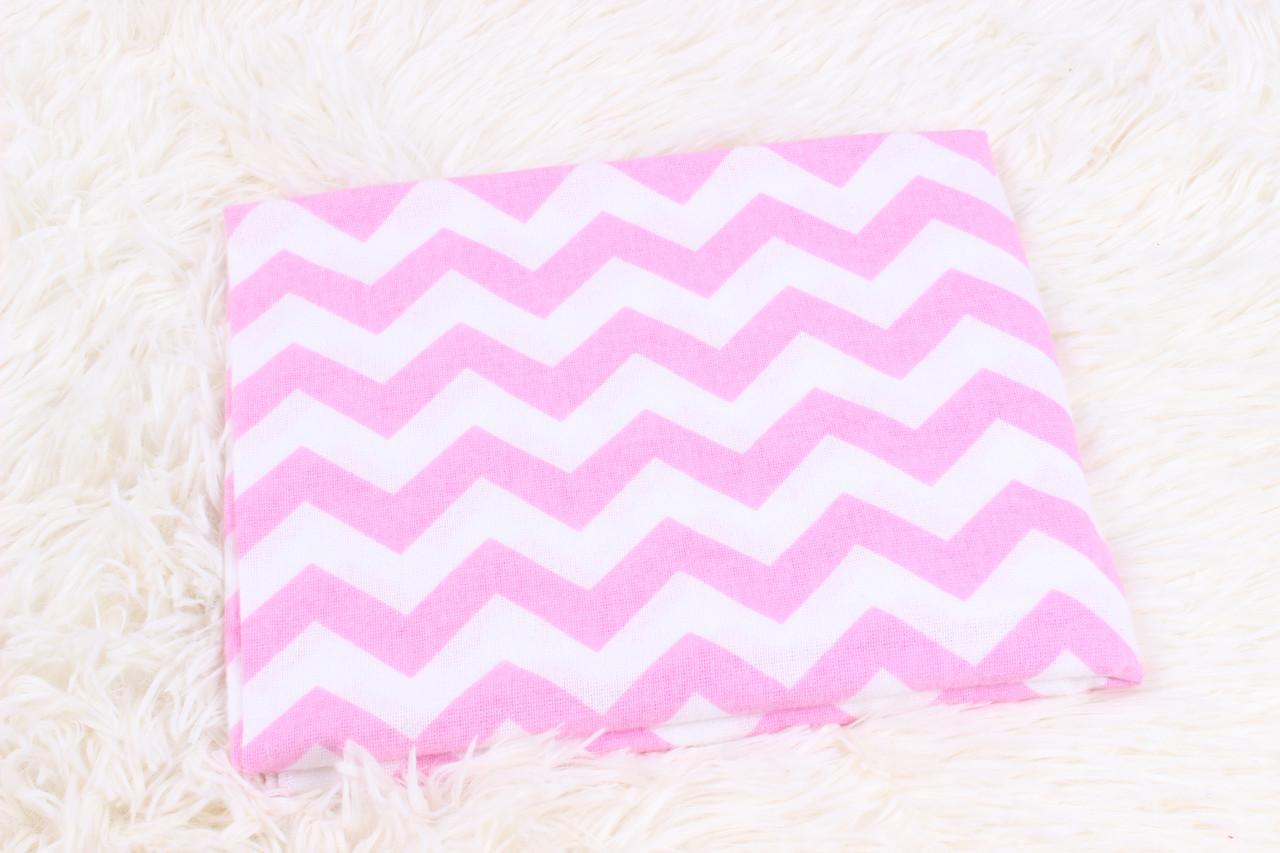 Фланелевая пеленка Розовый зиг-заг