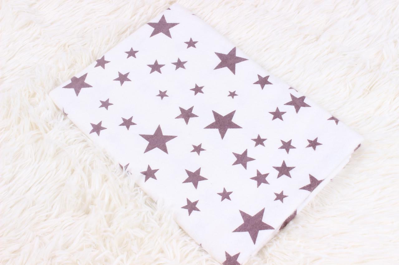 Фланелевая пеленка коричневые звезды