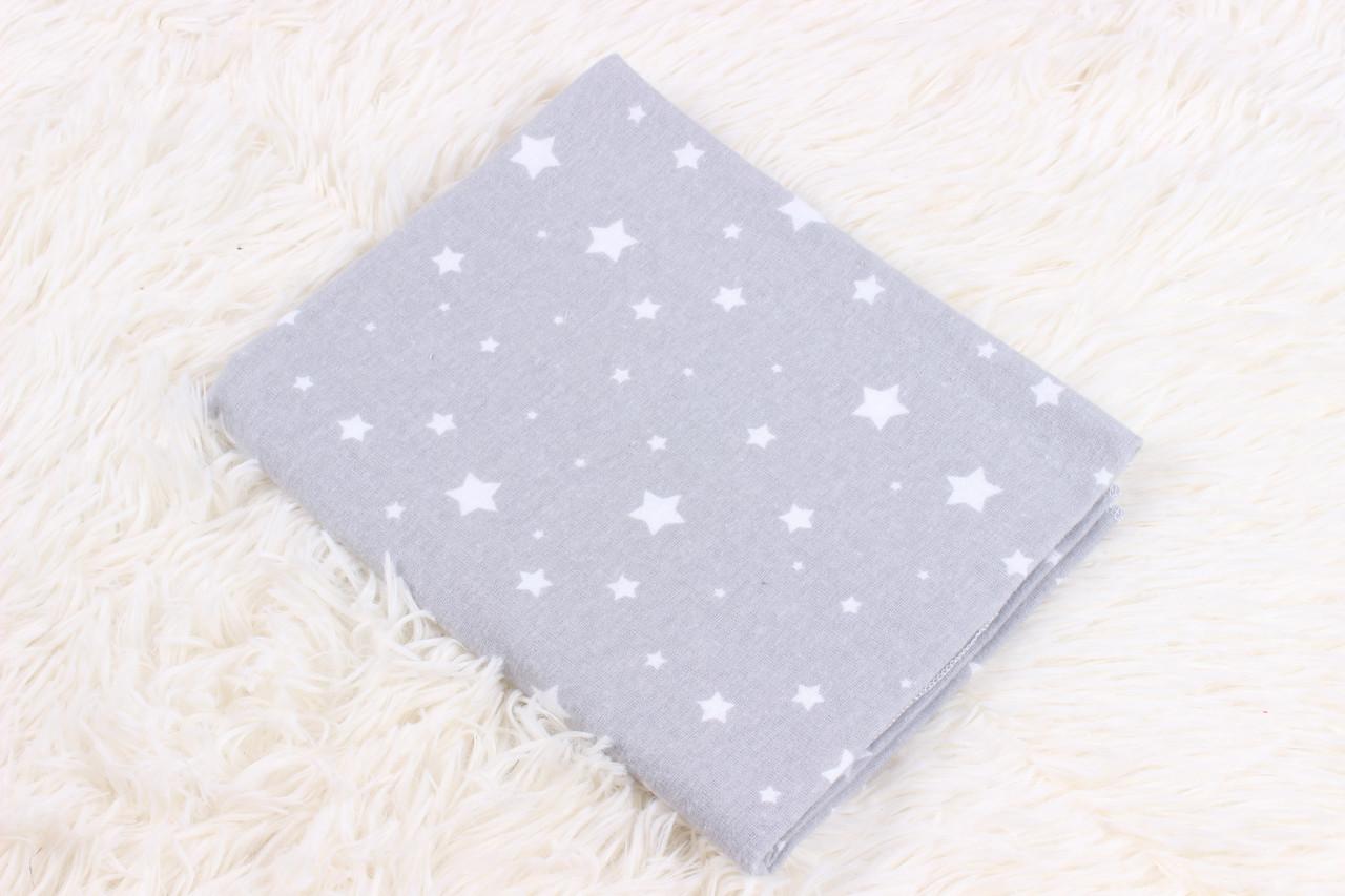 Фланелевая пеленка Маленькие звёзды на сером