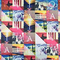 832397490 - ПВХ ткань оксфорд рип-стоп цветные квадраты с буквами и фото, ш.150
