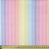 832427490 - ПВХ ткань оксфорд рип-стоп белая в радужные точки, ш.150