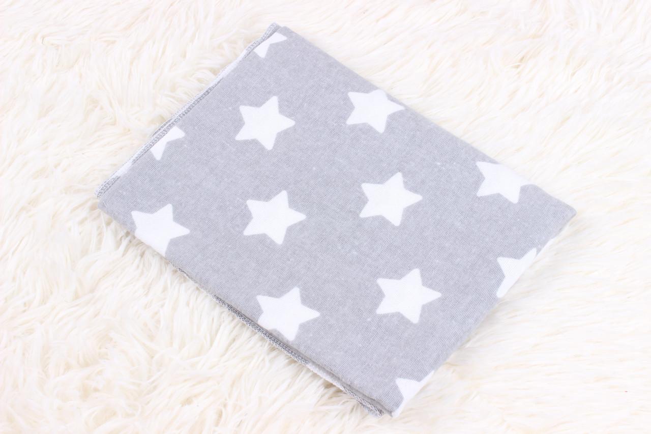 Фланелевая пеленка Звёзды на сером