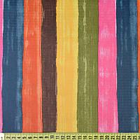 832447490 - ПВХ ткань оксфорд рип-стоп в широкие разноцветные полосы, ш.150