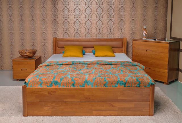 Кровать полуторная Марго с мягким изголовьем, с ящиками (фото 2)