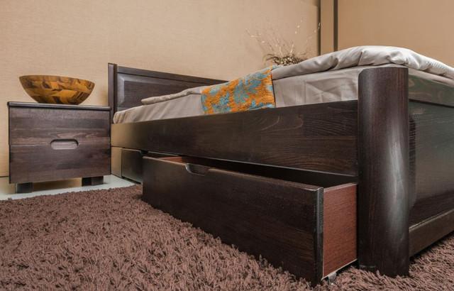 Кровать полуторная Марго с изножьем, с ящиками, изголовье филенка (фото 3)