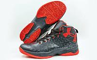 Обувь для баскетбола мужская Under Armour W8066-2(44) (р-р 44) (PU, черный-красный)