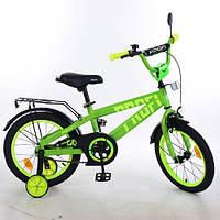 Велосипед двухколёсный детский 16 дюймов Profi Flash салатовый (T16173)