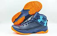 Обувь для баскетбола мужская Under Armour W8066-4 (41-45) (PU, синий-оранжевый)