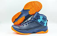 Обувь для баскетбола мужская Under Armour W8066-4(43) (р-р 43) (PU, синий-оранжевый)