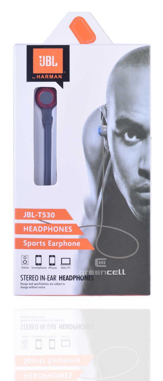 Наушники JBL T530 sport earphone