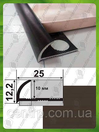 Угол для плитки до 9 мм. НАП 10 Шоколад, крашенный L-2,7м