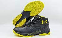 Обувь для баскетбола мужская Under Armour F1708-3(45) (р-р 45) (PU, черный-желтый)