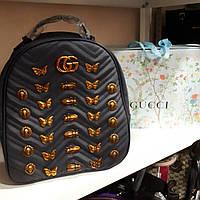 Рюкзак Gucci с бабочками, темно-синий