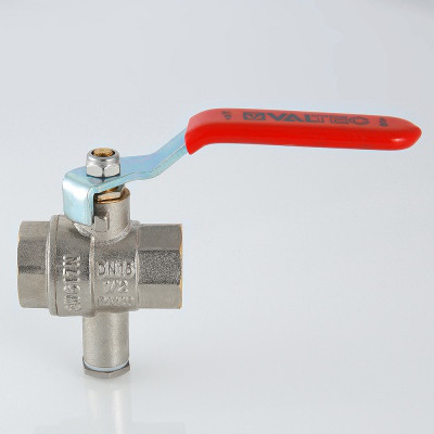 Кран шаровой для подключения датчика температуры VT.245. VALTEC