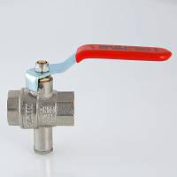 Кран кульовий для підключення датчика температури VT.245. VALTEC, фото 1