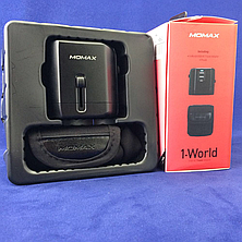 З/у cетевое MOMAX 1-World USB AC Travel Adapter black (UA1D) EAN/UPC: 4894222046481, фото 2