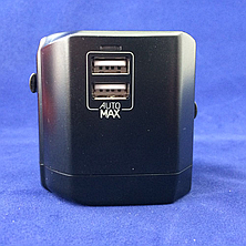 З/у cетевое MOMAX 1-World USB AC Travel Adapter black (UA1D) EAN/UPC: 4894222046481, фото 3