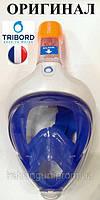 Полнолицевая маска для снорклинга Tribord Easybreath; размер M-L; синяя (ОРИГИНАЛ)