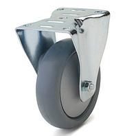 Колесо с неповоротным кронштейном с площадкой, диаметр 160 мм, нагрузка 180 кг