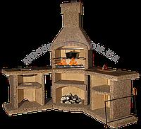 Камин барбекю Гранд угловой кварц (песочный)