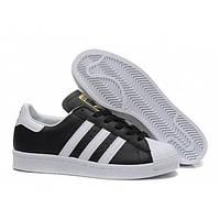 Кроссовки мужские Adidas SUPERSTAR Deluxe черно-бел