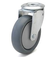 Колесо с поворотным кронштейном с отверстием, диаметр 125 мм, нагрузка 110 кг