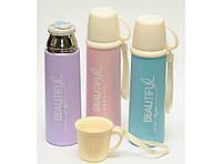 ТЕРМОС 450 МЛ, Термос с чашкой, Красивый термос, Питьевой термос, Термос для напитков, Детский термос
