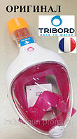 Повна маска для снорклінга Tribord Easybreath; розмір XS; рожева (ОРИГІНАЛ)