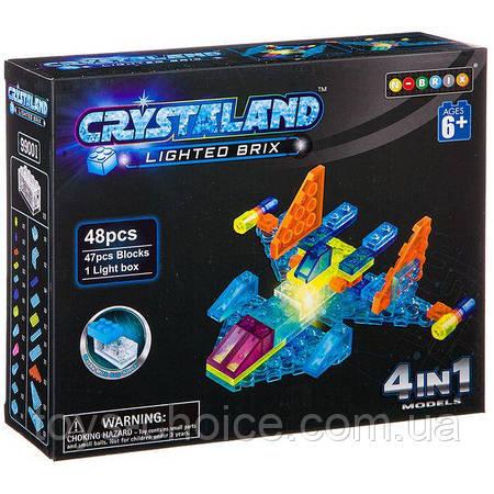 """Конструктор Crystaland 4 в 1 """"Самолет"""" 48 Деталей Ps"""