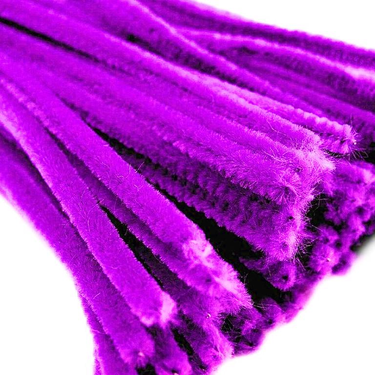 Синельная (пушистая) проволока, фиолетовая