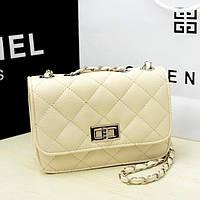 Сумка-клатч женская Chanel Multicolor beige (бежевый)