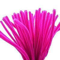 Синельная (пухнаста) дріт, яскраво-рожева