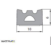 Универсальный уплотнитель Stomil Sanok с самоклеющейся лентой (Е-профиль , 10х6 мм черный) 100 м