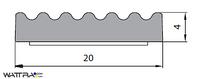 Универсальный уплотнитель Stomil Sanok с самоклеющейся лентой (Е-профиль , 20х4 мм черный) 50 м