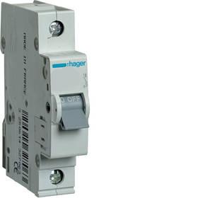 Автоматичні вимикачі (характеристика B) Hager 1-полюсні