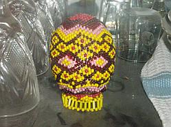 Пасхальное яйцо с бисера ручной работы